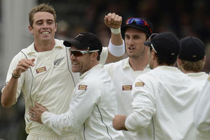 Tim Southee is congratulated (Reuters)