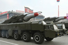 'Musudan' missiles shown off in a military parade (AAP)