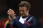 Paris Saint-Germain's David Beckham breaks down in tears as he leaves the pitch after being substituted (Reuters)