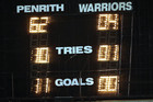 Last nigth's final scoreboard (Photosport)