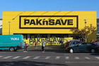 Union workers protested outside Pak 'n Save Royal Oak today and will continue their protests in Manukau today (Photo: Imogen Crispe/ 3 News)