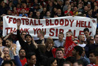 Manchester United fans give thanks to retiring manager ir Alex Ferguson (Reuters)