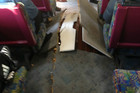 The derailment caused damage to the floor of the carriage (photo: Keith Elliott)