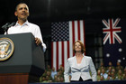 US President Barack Obama and Australian Prime Minister Julia Gillard (File: Reuters)