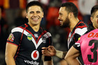 Ben Henry and Feleti Mateo after their record loss to the Panthers (Photosport)