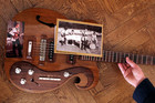 The custom-built Beatles VOX guitar (AAP)