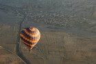 A hot air balloon is flies over Cappadocia (Reuters)