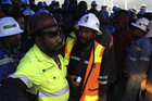 Mine workers protest over the mine collapse which killed 17 (Reuters)