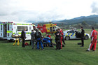 Liame Dunne suffered a broken back in the incident (Photo: Nelson Marlborough Rescue Helicopter)