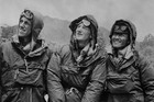 Edmund Hillary (left) and Sherpa Tenzing Norgay (right), with expedition leader Colonel John Hunt (centre) (AAP)