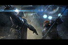 Batman fighting Deathstroke in Batman: Arkham Origins