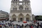 Notre Dame Cathedral was evacuated by police after the man committed suicide (AAP)