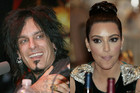 Motley Crue star Nikki Sixx and Kim Kardashian (Photos: Reuters)
