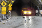 Rocks seen outside the Homer Tunnel (Photo: NZTA)