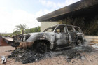 The US Consulate in Benghazi after the attack in September last year (Reuters)