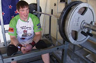 Palmerston North's Hayden Pritchard prefers his garage to the gym for training
