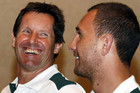 The 'toxic' comment has divided allabies coach Robbie Deans, left, and star Quade Cooper (Reuters file)
