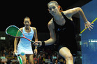 New Zealand squash player Joelle King, right (Photosport file)