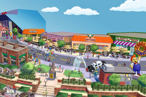 An artist's impression of The Simpsons theme park at Universal Orlando (Supplied)