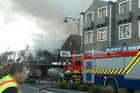 3News - The fire shown billowing out of Fat Badgers restaurant (Twitter/@backpackingmatt)