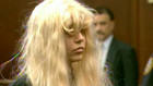 Actress Amanda Bynes appears in a Manhattan courtroom in New York, May 24, 2013. Bynes denied charges of possessing marijuana and tossing a bong out of the window of her 36th-floor Manhattan apartment. The former Nickelodeon child star, who appeared in court dressed in gray sweatpants, a long-sleeved black shirt and a disheveled platinum blonde wig, was released on her own recognizance after spending a night in jail after her arrest on Thursday (Reuters)