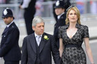 Speaker of the House of Commons John Bercow and his wife Sally (R) arrive at Westminster Abbey (Reuters)