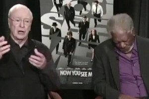 Morgan Freeman nods off during interview