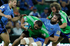 Highlander's Ma'afu Fia is tackled by the Western Force's Toby Lynn (AAP)