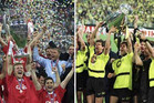 Which team will be repeating history and lifting the UEFA Champions League Trophy today – Bayern Munich, left, or Borussia Dortmund? (Reuters files)