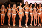 Chanè Berghorst, second from (L), was crowned Miss Bikini NZ  (Photo: Vitaly Kirilenko)