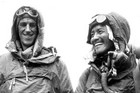 Sir Edmund Hillary (left) and Tenzing Norgay after they finished the climb (Reuters)