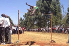 The Kenyan students fly high with their own high jump style