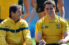 Robbie Deans, right, with James Horwill (photosport file)
