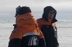 Samantha &amp; Richard Hayes on Ross Island, Antartica.