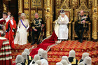 Britain's Queen Elizabeth as she reads the Queen's Speech in the House of Lords (Reuters)