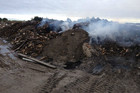 Smoke piles out of the Christchurch rubbish pit (supplied)