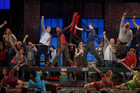 The cast of Kinky Boots performing at the Tony Awards