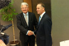 Peter Dunne and John Key (file pic)