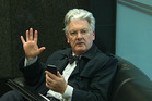 Peter Dunne in the lobby of the Electoral Commission in Wellington
