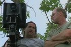 Gregory Crewdson (left) directs his photo shoots like a film set