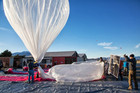The Google X team prepare equipment at the Tekapo Aerodrome