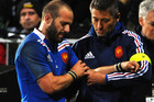 First five-eighth/halfback Michalak has a dislocated shoulder (photosport)