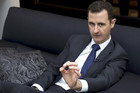 Syria's President Bashar al-Assad speaks during an interview with a German newspaper in Damascus (Reuters/SANA)