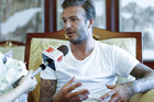 David Beckham started his second trip in China as the Ambassador of the country's football in Beijing (Reuters)