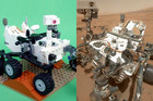 Curiosity and its Lego imitator - but which is which?