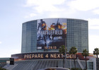 Battlefield 4 advertising on the exterior of E3 venue the Los Angeles Convention Center