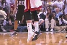 Mike Miller didn't have time to put his shoe back on, so he ditched it and shot the three pointer