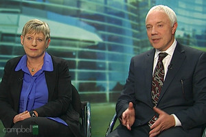 Lianne Dalziel and Mayor Bob Parker