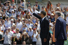 US President Barack Obama at the Brandenburg Gate in Berlin (Reuters)