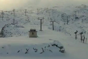 VIDEO: Snow at Turoa timelapse